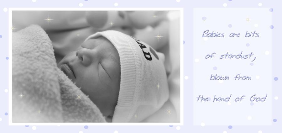 frisch geboren, Babyfoto