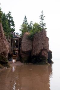 Hopewell Rock an der Bay of Fundy mit der höchsten Gezeit der Welt