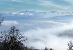 Blick vom Uetliberg auf die Alpenkette