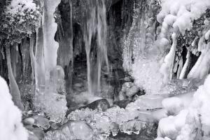 Eiszapfen an der Sihl