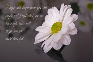 Flower-with-quote