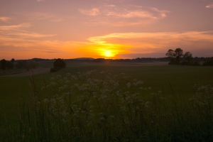Sonnenuntergang-Franche-Comte